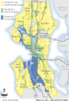 Map of single family zoning in Seattle