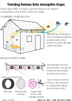 Eave Tube mosquito traps process diagram